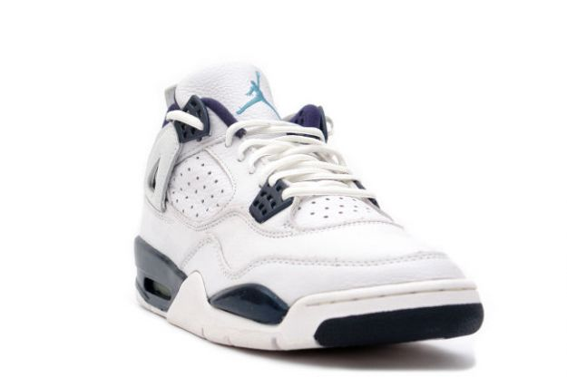 1999 nike jordan 4 retro white columbia blue midnight navy shoes