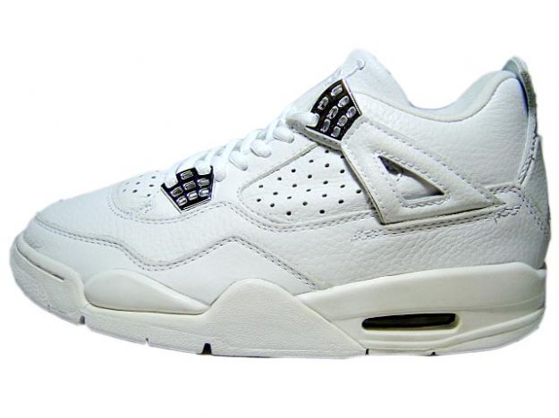 2000 nike jordan 4 retro white white chrome shoes