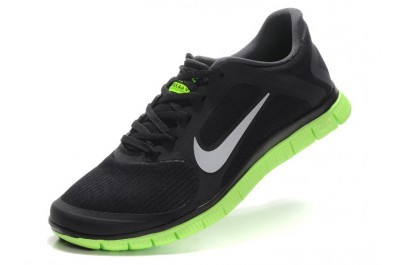 2013 Nike Free 4.0 V3 Mens Shoes Black Green