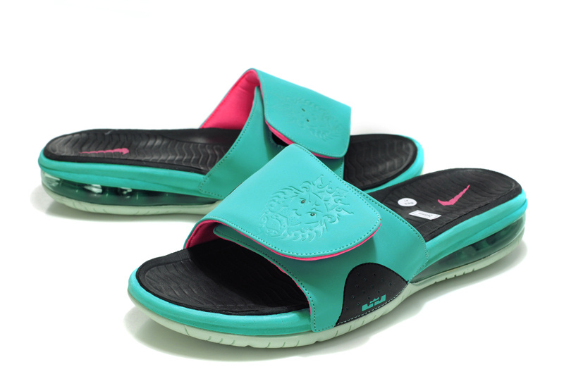 8a0d76df38f04 ... air max slide outdoor mens comfortable b9ac4 new zealand nike lebron  james massage hydro sandal blue black pink 988ab 7b2de ...