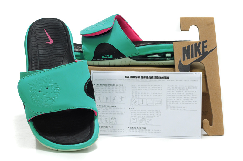 Official Quality Nike Lebron James Massage Hydro Sandal Blue Black Pink eada8a809