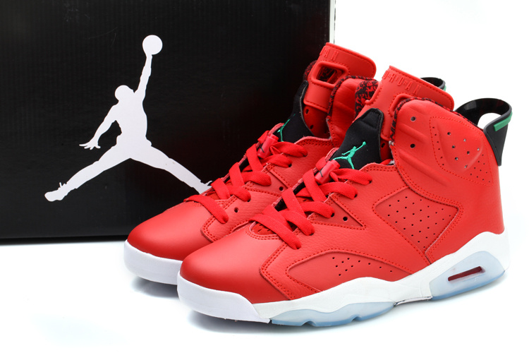 New Nike Jordan 6 MVP History Of Jordan Red White Green Shoes