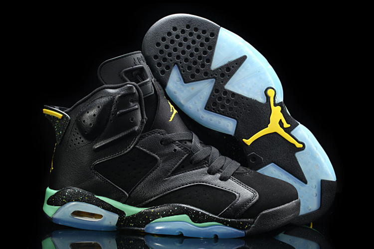New Nike Jordan 6 World Cup Of Brazil Black Green Shoes