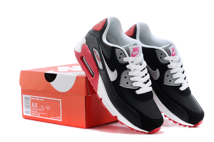 Nike Air Max 90 Black White Red Running Shoes