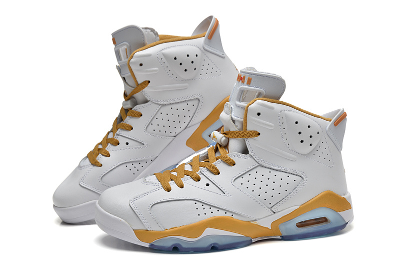 2014 New Jordan 6 Retro Basketball Shoes White Yellow