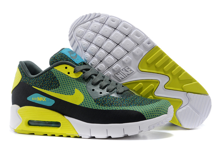 Nike Air Max 90 Green Black Yellow White Running Shoes