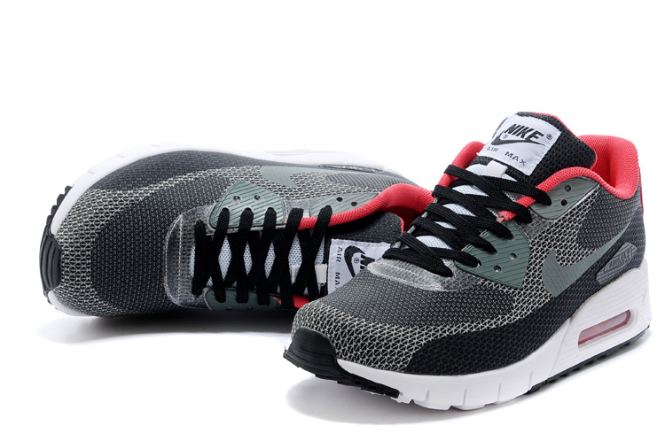 Nike Air Max 90 Grey Black White Running Shoes
