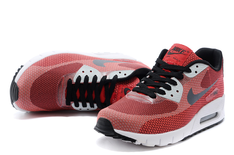 Nike Air Max 90 Wine Red Black White Running Shoes