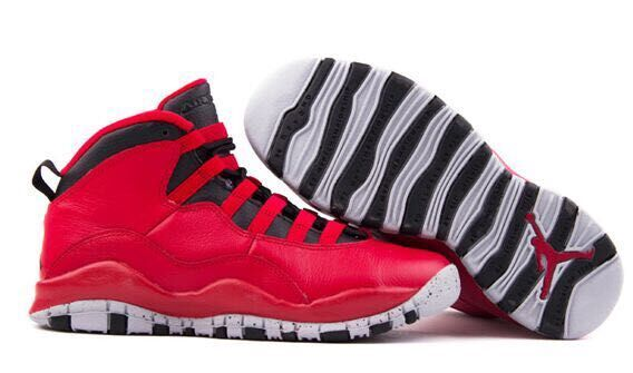 Nike Jordan 10 Red Black Women's Shoes