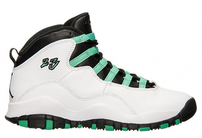Nike Jordan 10 White Green Black Black Women's Shoes