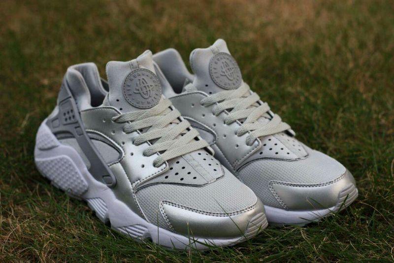 premium selection eb98b 1831a 2015 Hot Nike Air Huarache All Silver Grey Mens Shoes