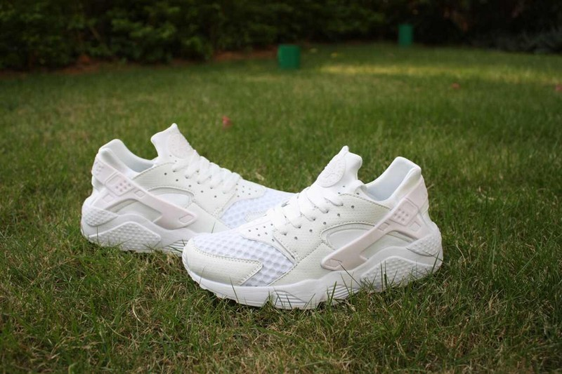 2015 Hot Nike Air Huarache All White Women's Shoes