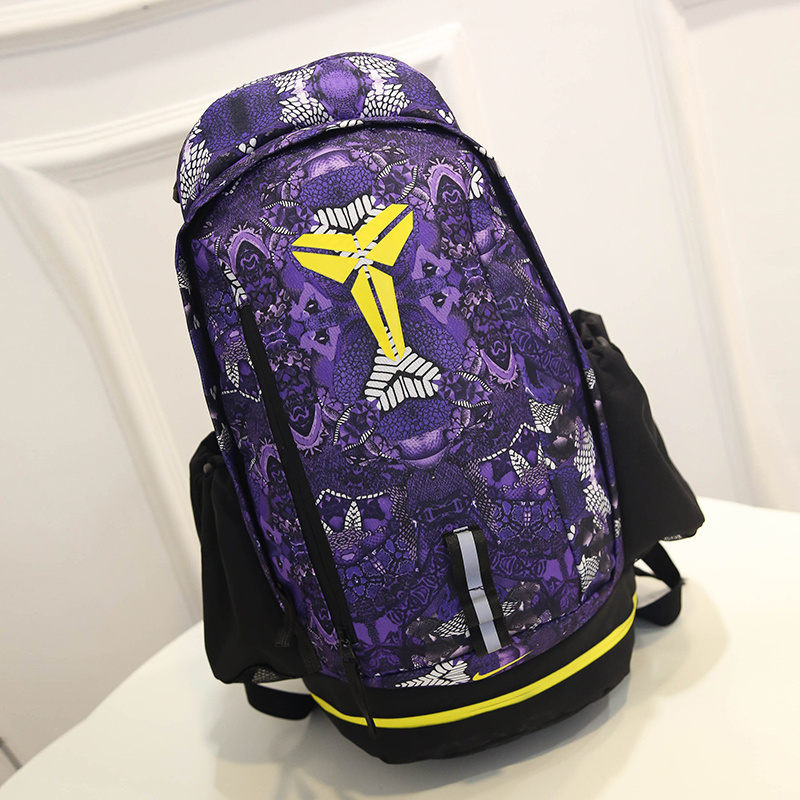 2015 Nike Kobe Black Purple Yellow NBA Backpack