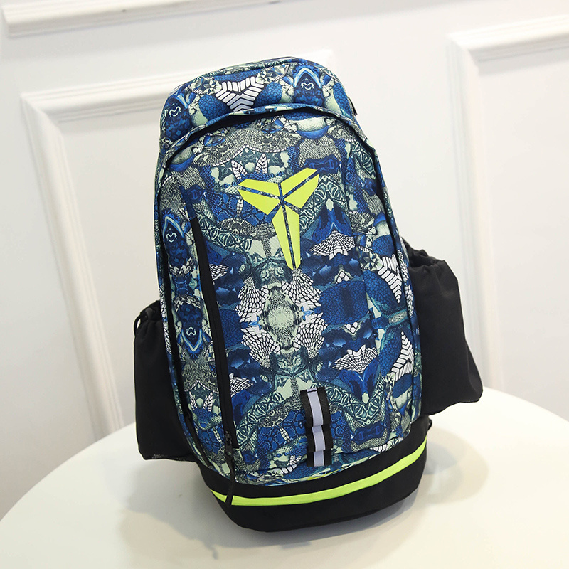 2015 Nike Kobe Grey Blue Fluorscent Green NBA Backpack