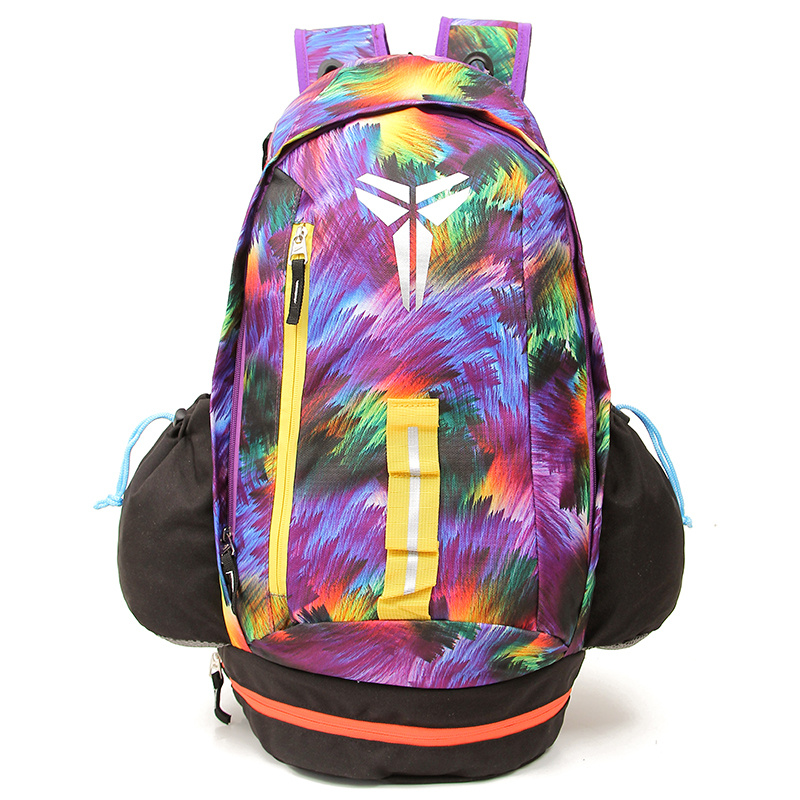 2015 Nike Kobe Purple Yellow Black Backpack