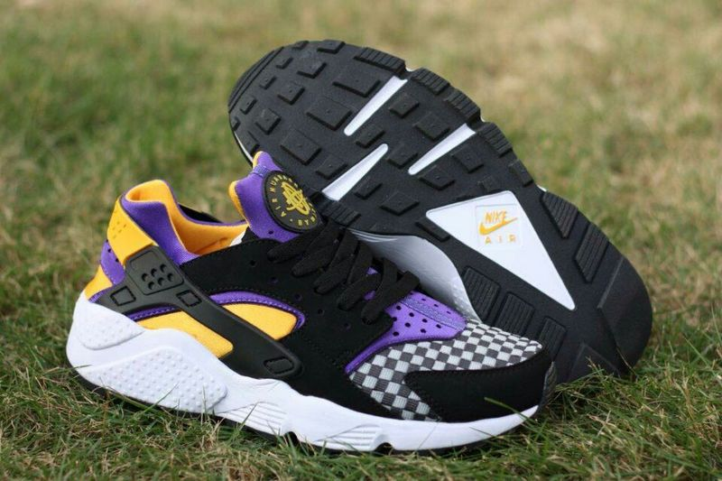 483d66fcae81 ... denmark 2015 popular nike air huarache black purple orange yellow  womens shoes 03af3 773b3