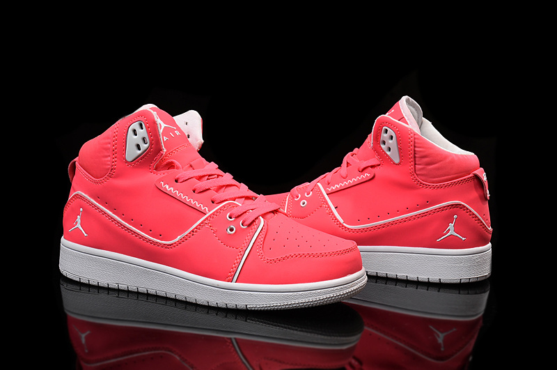 2015 Nike Women Air Jordan 1 Flight 2 Red White Shoes
