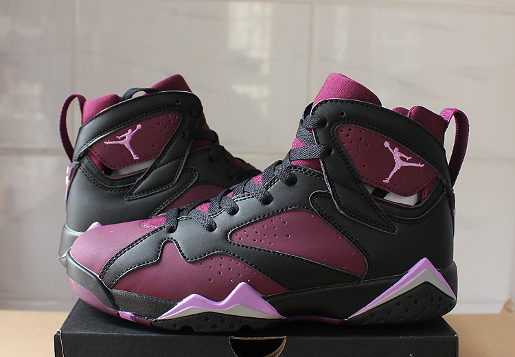 Nike Air Jordan 7 Retro Mulberry Purple Black Basketball Shoes