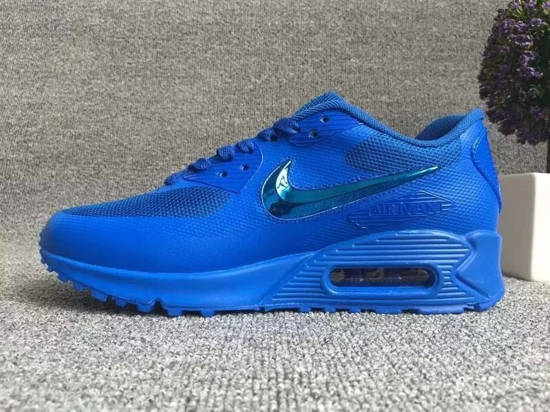 New Nike Air Max 90 Electroplating Swoosh All Blue