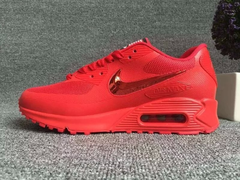 New Nike Air Max 90 Electroplating Swoosh All Red