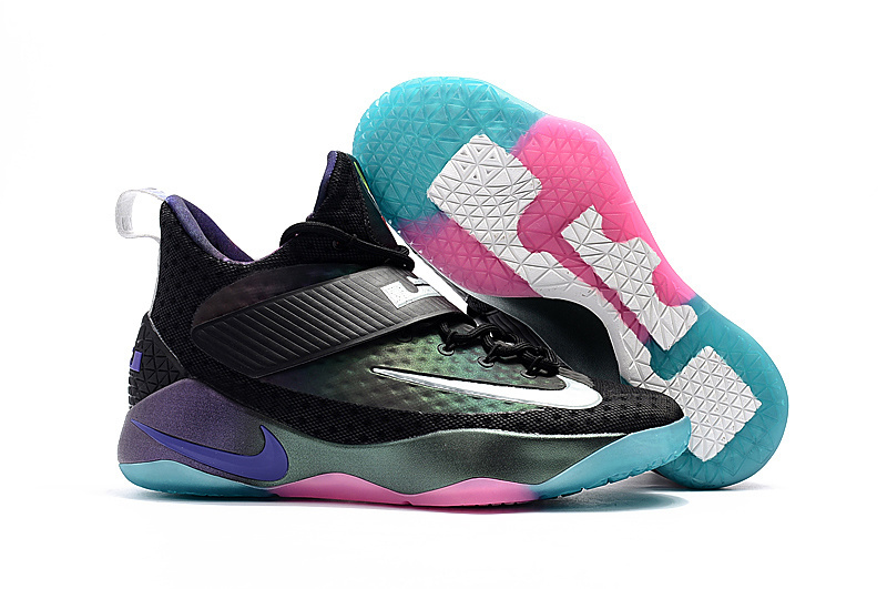 2017 Nike LeBron 14 Black Blue Pink Shoes