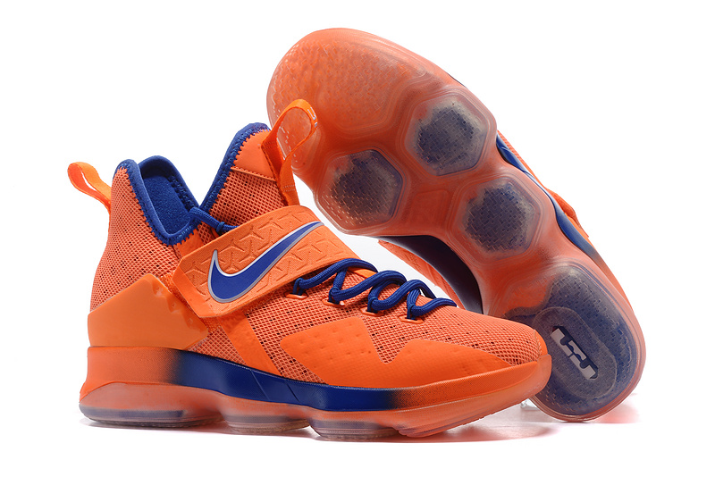 2017 Nike LeBron 14 Orange Blue Shoes