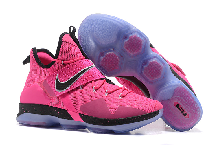 2017 Nike LeBron 14 Pink Black Shoes
