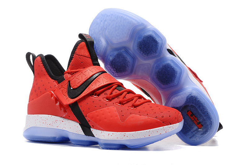 2017 Nike LeBron 14 Red Black White Shoes