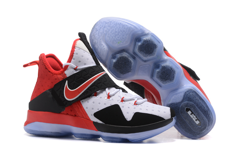 2017 Nike LeBron 14 White Black Red Shoes