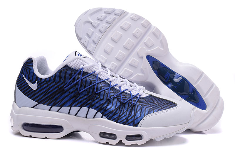 2018 Men Nike Air Max 95 20th Anniversary Blue White Shoes