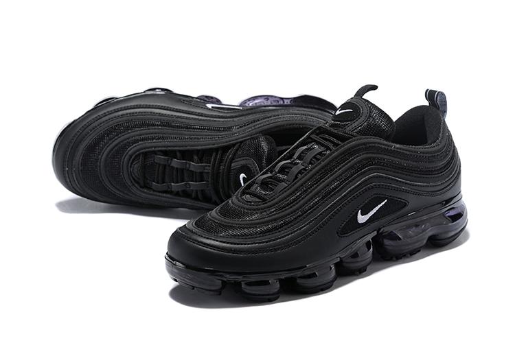 7edb6439665e 2018 Women Nike Air Vapormax 97 All Black Shoes