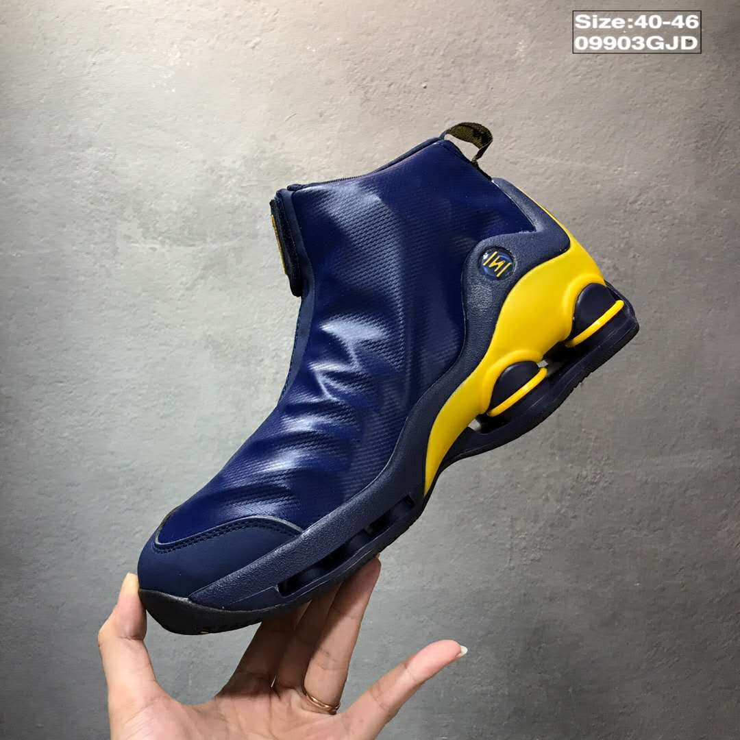 2018 Nike Shox VC 1 OG Blue Yellow Shoes
