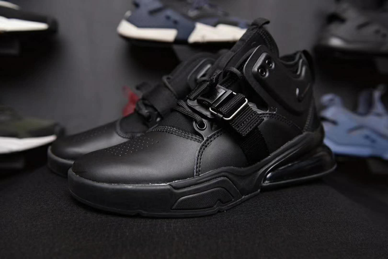 2018 Men Nike Air Force 270 Mid Green All Black