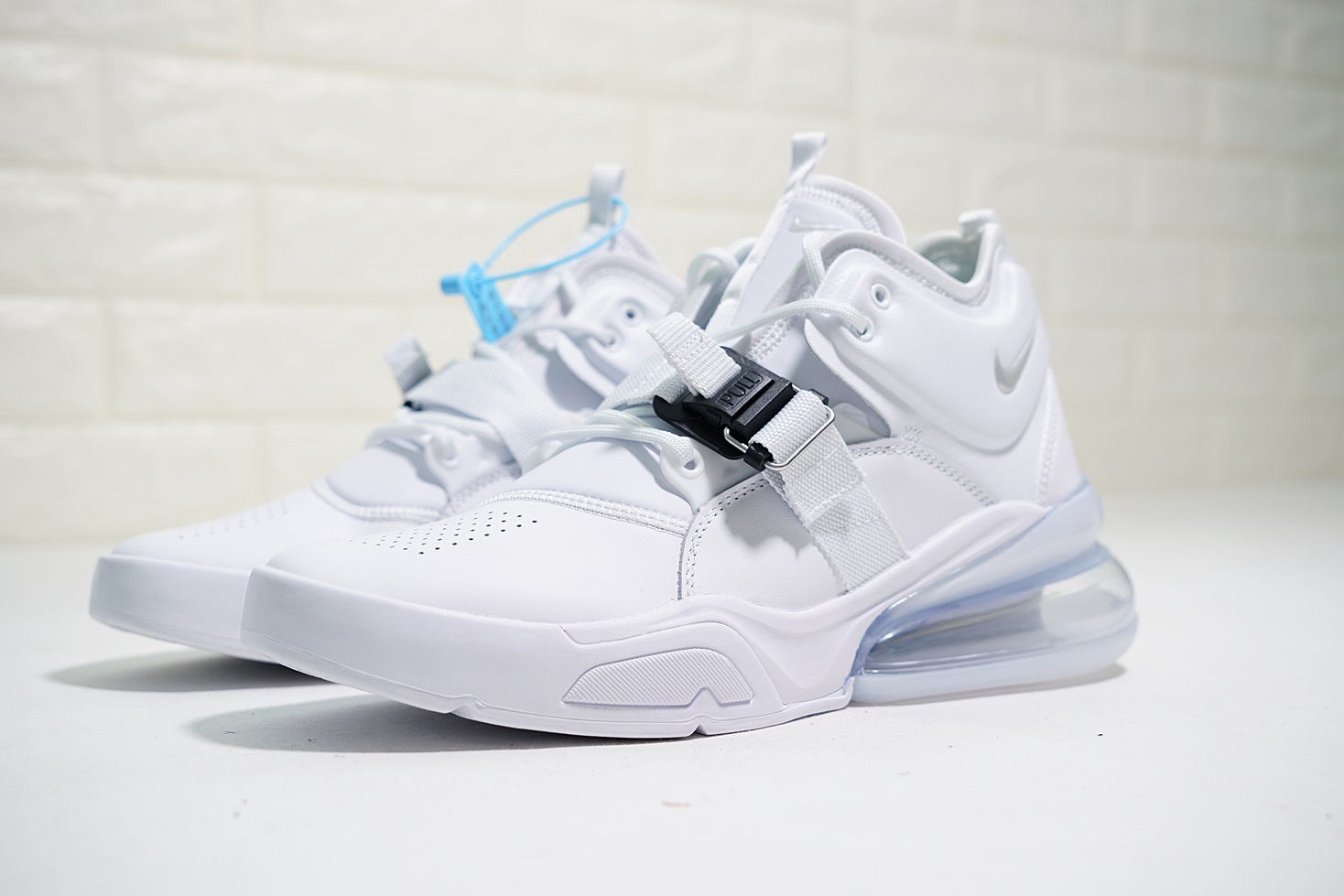 2018 Men Nike Air Force 270 Mid Green All White