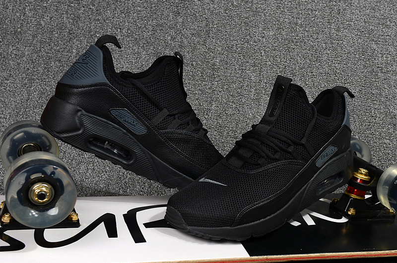 brand new 33d1d e71d5 2018 Men Nike Air Max 90 EZ All Black Shoes