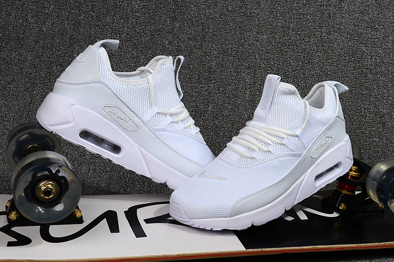 2018 Men Nike Air Max 90 EZ All White Shoes