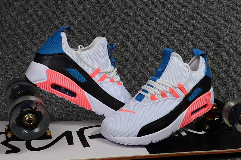 2018 Men Nike Air Max 90 EZ Grey Black Orange Blue Shoes