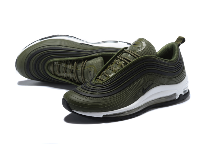 2018 Men Nike Air Max 97 UL Army Green White Shoes