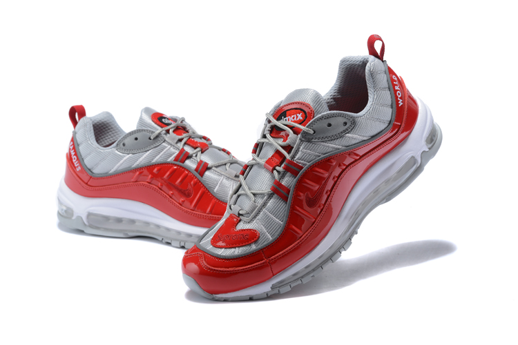 2018 Men Nike Air Max 98 20th Anniversary Grey Red Shoes