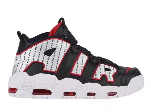 2018 Nike Air More Uptempo Black Red White