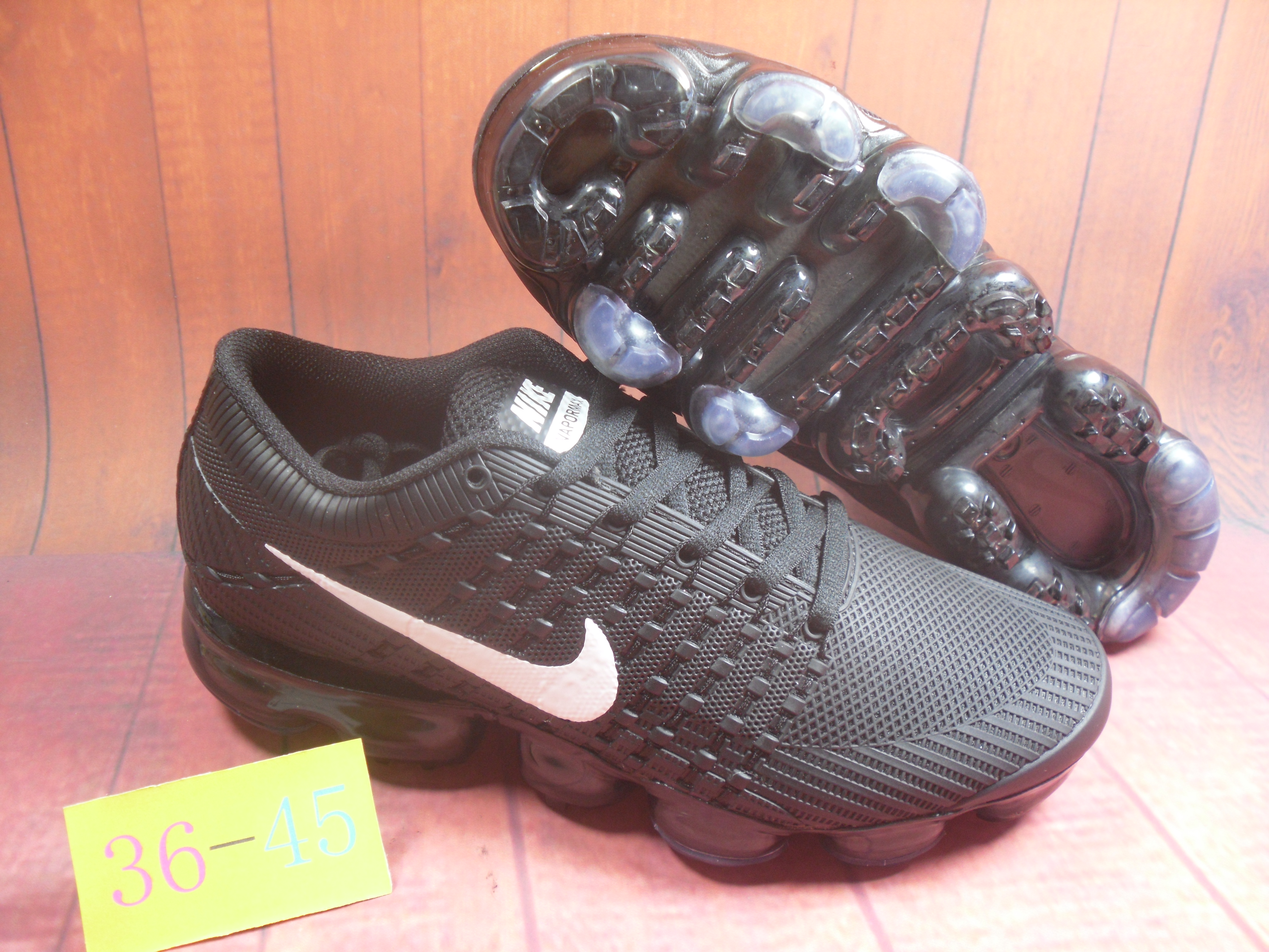 2018 Nike Air VaporMax Flyknit KPU All Black White Shoes