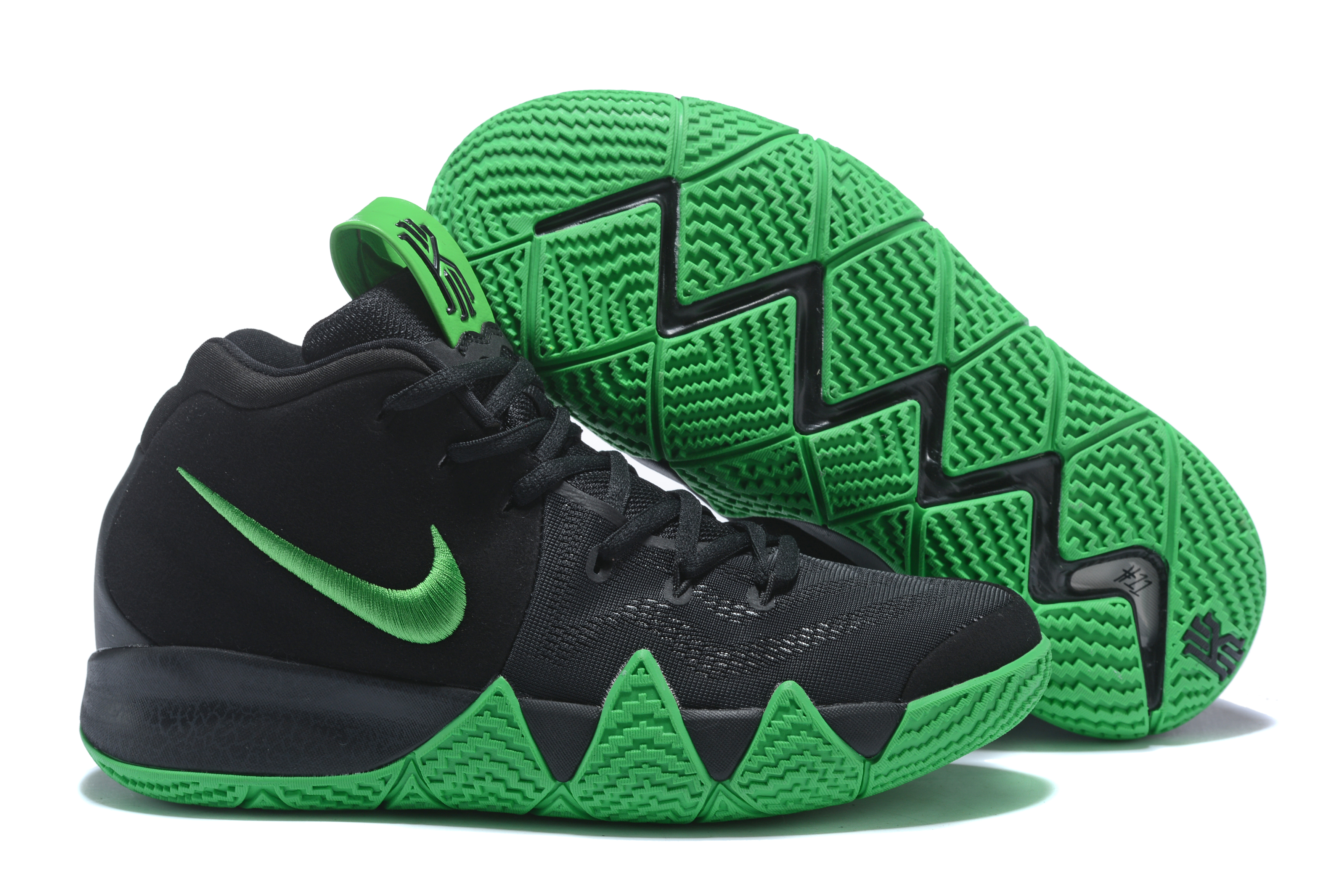 2018 Nike Kyrie 4 Black Green Shoes