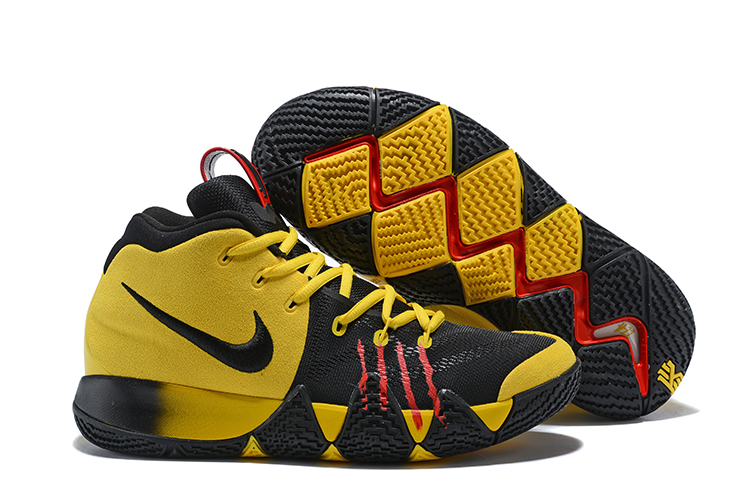 2018 Nike Kyrie 4 Bruce Lee Yellow Black Red Shoes