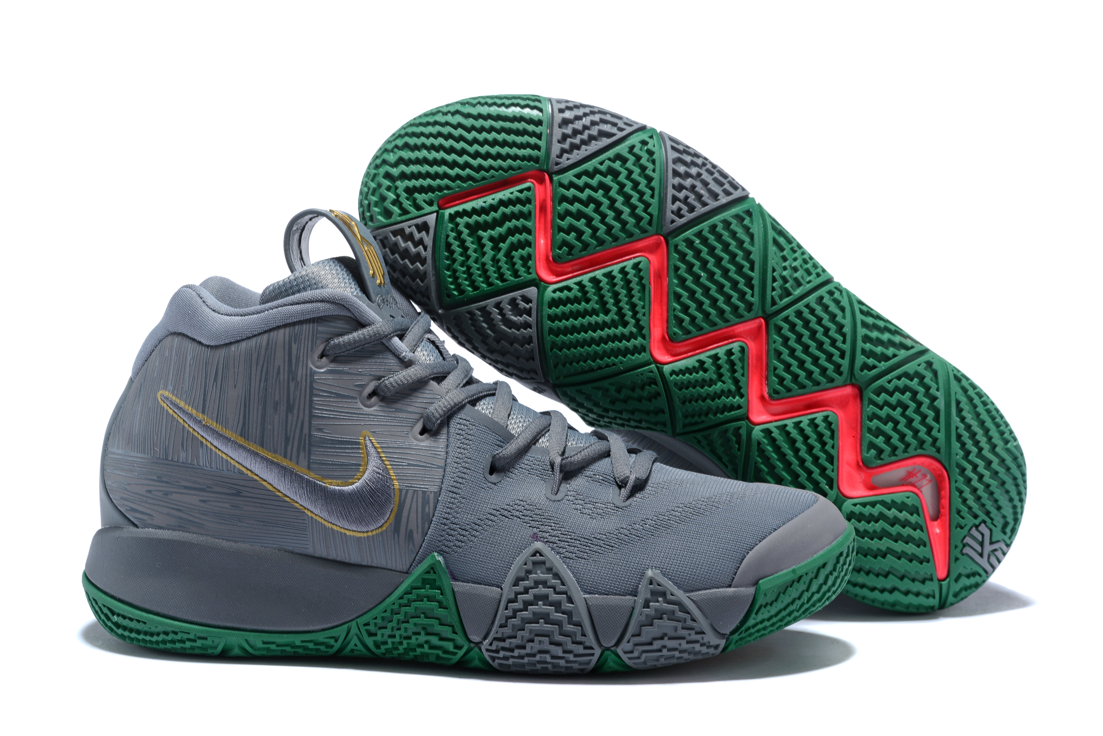 2018 Nike Kyrie 4 Grey Green Shoes