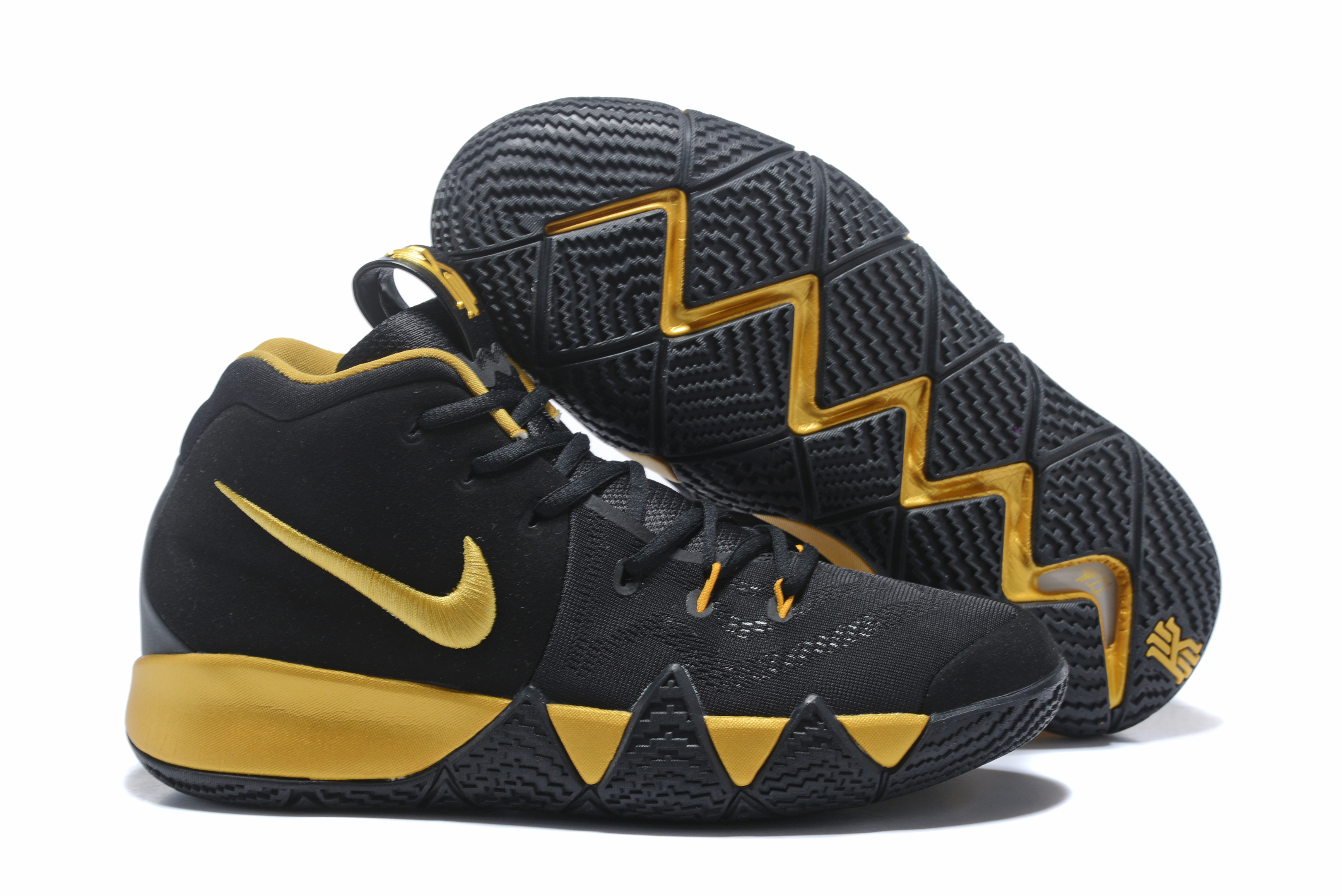 2018 Nike Kyrie 4 Black Gold Shoes