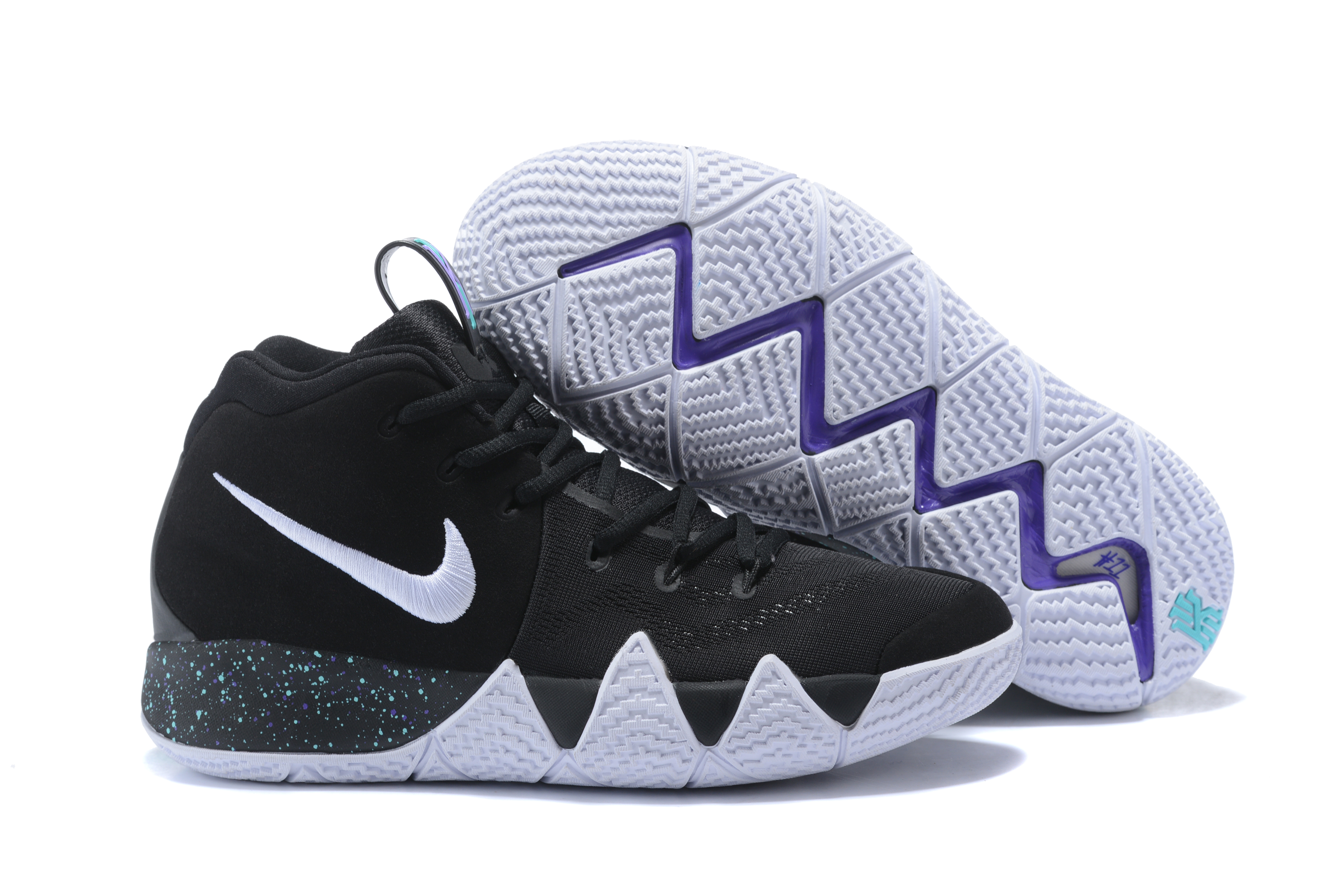 2018 Nike Kyrie 4 Black White Point Shoes