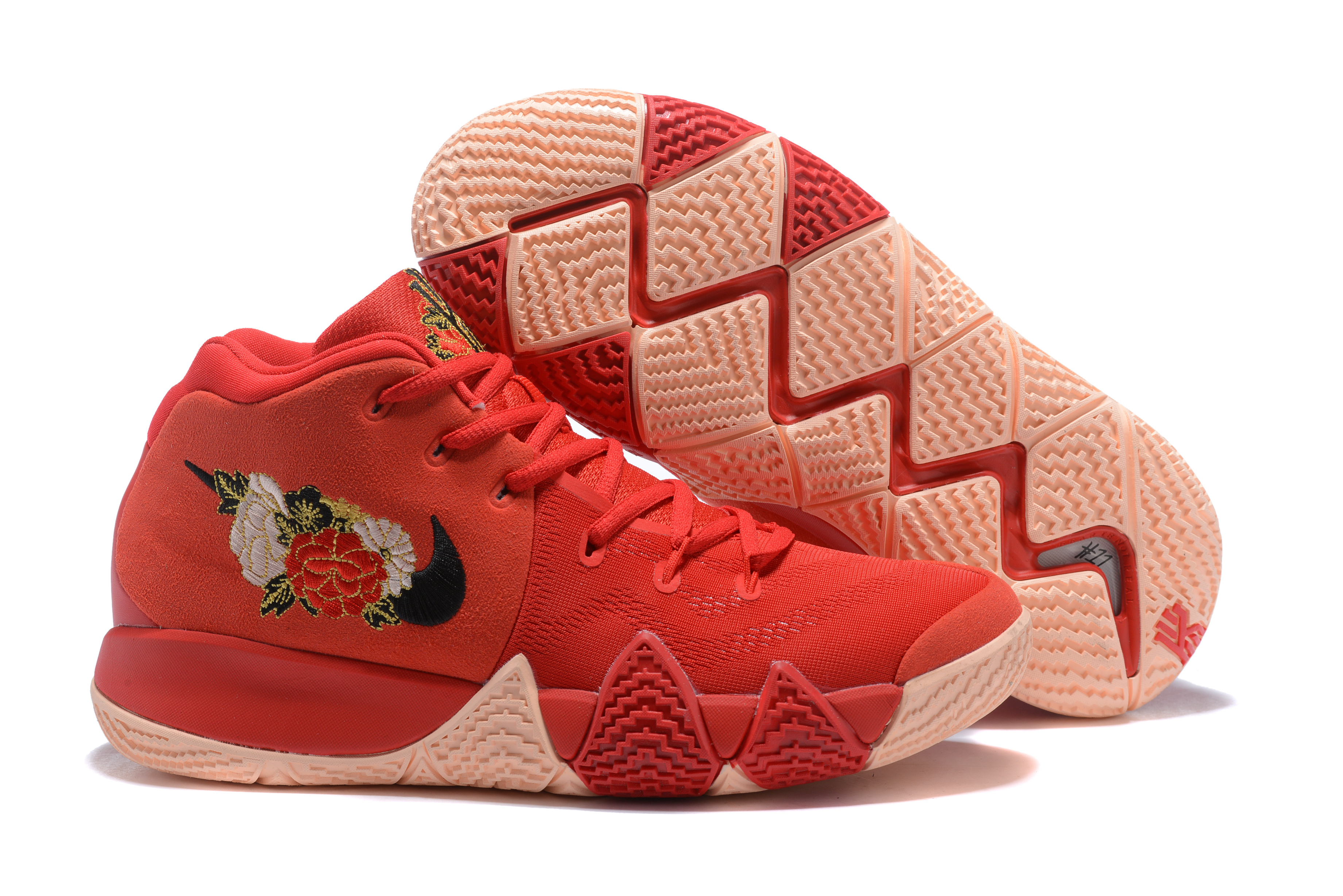 2018 Nike Kyrie 4 Red Followers Print Shoes