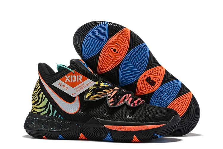 2019 Nike Kyrie 5 Easter Black Orange Green Shoes