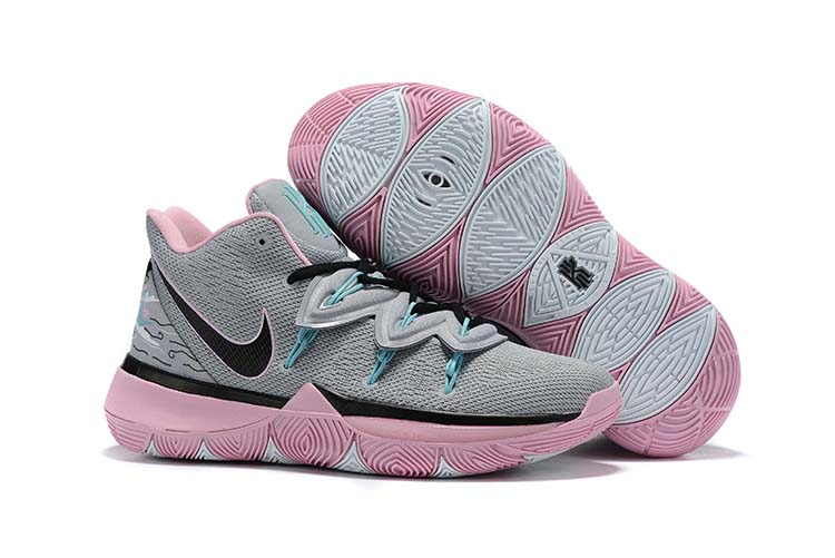 2019 Nike Kyrie 5 Grey Black Pink Shoes