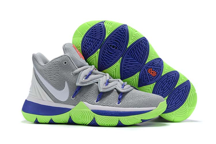 2019 Nike Kyrie 5 Grey Blue Green Shoes